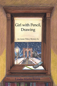 girl with pencil drawing book